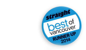 Georgia Straight Best of Vancouver: We're in the Top 3!